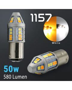 1157 Super Bright 2835 30-LED Dual Color Switchback LED Bulbs