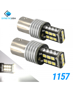 1157 1400 Lumen Extreme High Power Xenon White 6000K LED bulbs