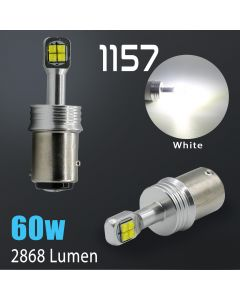 1157 High Power 6000K White CREE 60 Watt SMD LED Bulb