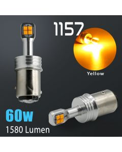 1157 High Power Amber Yellow CREE 60 Watt SMD LED Bulb