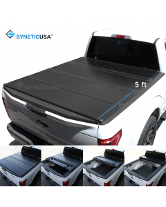 Hard Quad-Fold Tonneau Cover For 2019-2021 Ford Ranger 5ft Short Bed Waterproof Aluminum