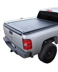 Fit 2014-2018 Silverado/Sierra 5.8ft Bed Retractable Roll-up Hard Tonneau Cover