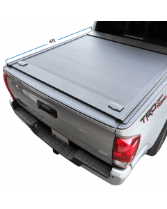 2016-2021 Toyota Tacoma 6ft Bed Aluminum Retractable Roll-Up Hard Tonneau Cover