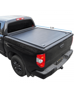 2007-2021 Tundra 5.5ft Bed Aluminum Retractable-Roll-Up Hard Tonneau Cover