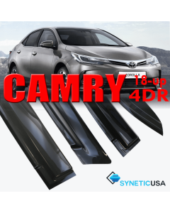 2018 Camry SE/XLE/L Sedan Smoke 4-Door Window Vent Visor