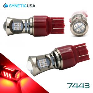 2X 7443 LED High Power 3030 Red Turn Signal Tail Brake Light Bulbs