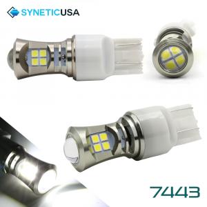 2X 7443 LED High Power 3030 Xenon White Turn Signal DRL Light Bulbs