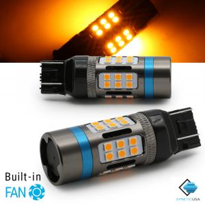 CANBUS Error Free 7443 7440 Standard CK Amber LED DRL Turn Signal Light Bulbs