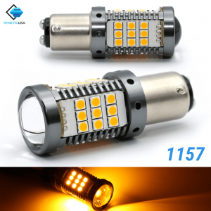 All-in-one CANBUS Error Free1157 Amber Yellow Super Bright LED Turn Signal Bulbs