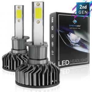 H1 CREE-COB 6000K White LED Headlight DRL Kit Light Bulbs