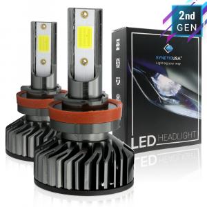 H11/H9/H8 COB LED White Headlight Conversion Kit High/Low Beam Fog Light 5000lm