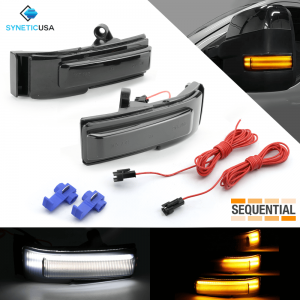 Smoked Sequential LED Side View Mirror Turn Signal Light (2015-2018 Ford F-150)