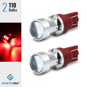 T10 LED Wedge Bright Red Interior Third Brake High Mount Light Bulbs