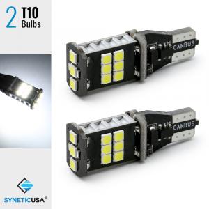 CANBUS Error Free T10/192/W5W LED Wedge Bright White Reverse Interior Light Bulbs