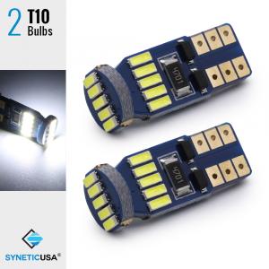 T10/194 15-LEDs 4014 Chips, 461 LM, 6000K White Light Bulbs