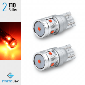 2X T10 168 921 High Power CSP LED Red Interior 3rd Brake Light Bulbs