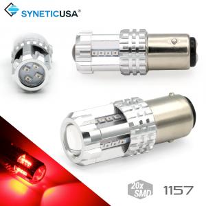 High Power 1157 2057 7528 Bright Red 20-LED Turn Signal Tail Brake Light Bulbs