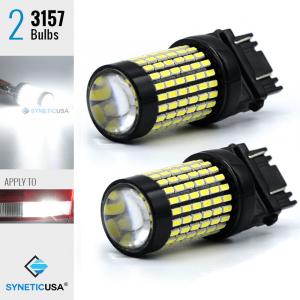 2X 50W 3157/3156 LED 6000K White Reverse DRL Turn Signal High Power Light Bulbs