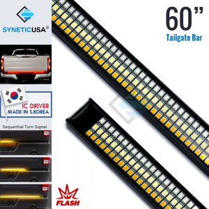 """60"""" Triple LED Tailgate Flash Strobe Brake Light Bar with Reverse & Sequential Turn Signals"""