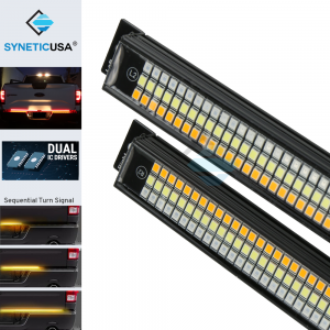 """60"""" Triple LED Tailgate Brake Light Bar with Reverse & Sequential Turn Signals"""