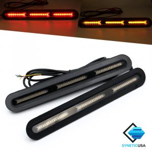 2x Universal Car Truck LED Rear Windshield 3rd Brake Turn Signal Light Strip