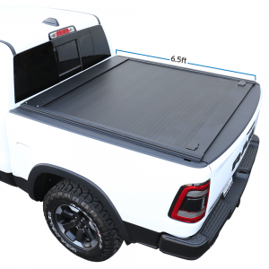 2002-2021 Ram 1500/2500 6.5ft Truck Bed Retractable Roll-up Hard Tonneau Cover