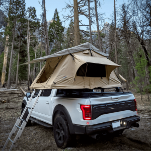 Overlander Truck Roof Top Tent with Ladder & Mattress Camping 3 Person