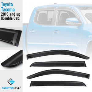 2005-2011 Toyota Tacoma Crew Cab In-Channel Vent Visors
