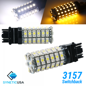 3157 Super Bright 120-SMD Dual Color Type 1 Switchback LED Bulbs