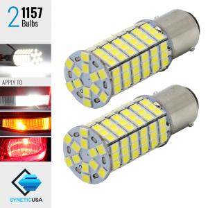 2X 1157 40W High Power 6000K White 120SMD LED Turn Signal Brake DRL Light