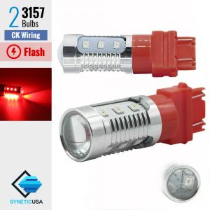3157 CK LED Red Strobe Flash Blinking Brake Stop Light/Parking Bulbs