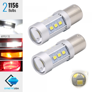 2X 1200 Lumens 1156 50W High Power 2835 Chip LED White Reverse Back Up Lights Bulbs