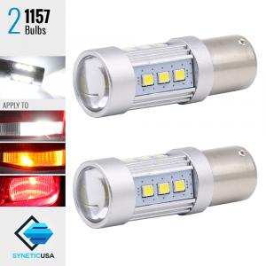 1157 2835 1400 Lumen Extreme High Power Xenon White 6000K LED bulbs