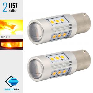 1157 2835 900 Lumen Extreme High Power Amber Yellow LED bulbs