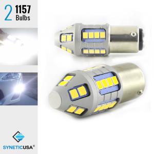 2X 1250 Lumens 1157 50W High Power Chip LED White Front Turn Signal Light Bulbs