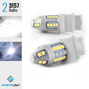 2X LED White T20 3157/3156 Reverse DRL Brake Stop High Power Light Bulbs
