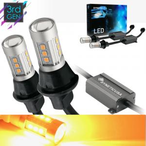 3157/3156 Super Bright Amber Yellow Error Free 15-LED Bulbs