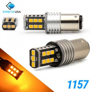 1157 1400 Lumen Extreme High Power Amber Yellow LED bulbs