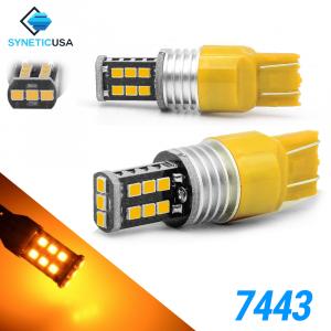 7443 1400 Lumen Extreme High Power Amber Yellow LED bulbs