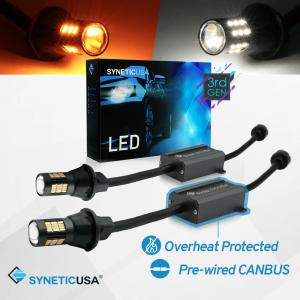 Error Free White/Amber 3157 Type 1 LED Switchback Turn Signal Light Bulbs