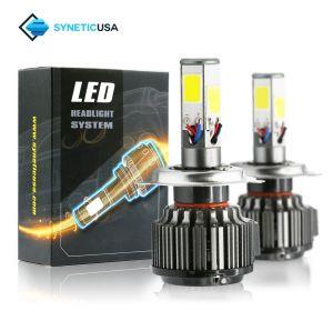 H4 COB 120W LED Headlight 6000K Xenon White Light Bulb Kit