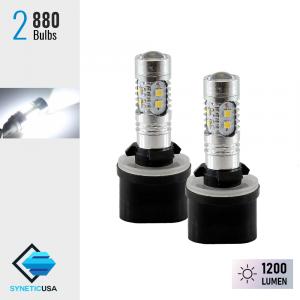 2X 880 1200LM 6000K White High Power 2323 Chip LED Projector Fog Light Bulbs