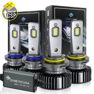 9005+9006 CSP LED Headlight Kit Combo High/Low Beam 6000K White Bulbs