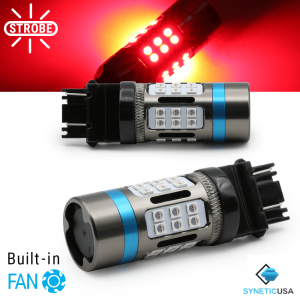 CANBUS Error Free 3157 Standard CK Red LED Strobe Flash Brake Tail Parking Bulbs