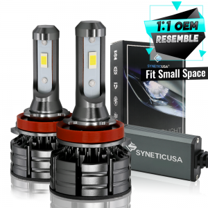 H11/H8/H9 CSP LED Headlight Conversion Kit 120W Fog Light Low Beam 6000K White Bulbs