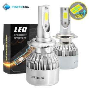 H7 CREE LED 6000K White Headlight Kit COB Light Bulbs