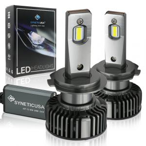 H7 CSP LED Headlight Fog Light Bulbs Kit Low Beam 6000K White 6000 Lumen