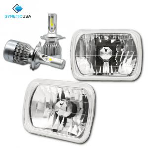 "7""X6"" 120W CREE LED High/Low Beam Headlights Sealed Beam Chrome Clear"