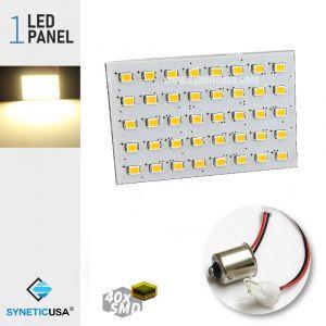 Super Bright Warm White LED T10/1156 Light Panel Bulb 40-SMD 2835 Chip