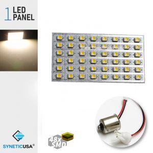 T10/1156 3528 LED Panel Super Bright 48-SMD LED Bulbs (Warm White)